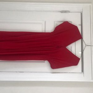 Long red maxi